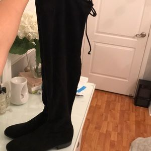 Shoes - Over the knee black boots